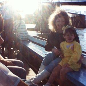 Mom & me, 1989.